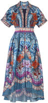 Temperley London Pipe Dream Belt Silk Dress