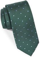 Black Brown 1826 Textured Dot Silk Tie