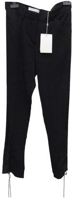 Nicole Farhi Black Cotton Trousers for Women
