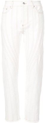 Thierry Mugler Stitching Detail Trousers