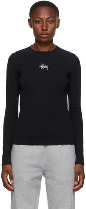 Stussy Black Baby Rib Long Sleeve T-Shirt