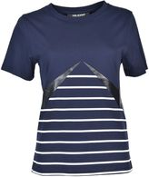 Neil Barrett Lightning Bolt Striped T-shirt