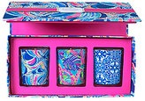 Lilly Pulitzer Ocean Jewels Lilly's Jungle Bamboo Votive Set
