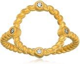 Freida Rothman Textured Open Circle Ring, Size 8