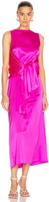 BERNADETTE Judy Silk Satin Dress in Pink | FWRD