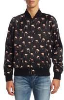 Saint Laurent Teddy Flamingo Print Jacket