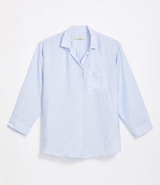 LOFT Petite Pocket Tunic Shirt