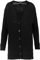 Just Cavalli Brushed Chunky-Knit Cardigan