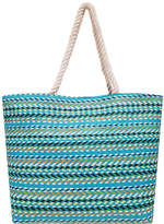 Asstd National Brand Multi Stripe Large Tote Tote Bag