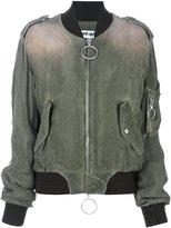 Off-White dégradé effect bomber jacket - women - Cotton/Cupro - XS