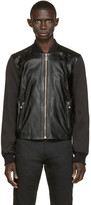 Versus Black Leather Bomber