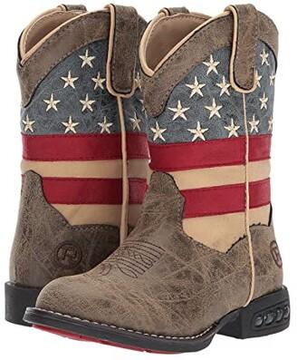 Roper Patriot (Toddler/Little Kid) (Faux Leather Vamp Stars & Stripes Shaft) Cowboy Boots