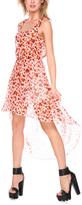 Stanzino Orange Heart Sheer Hi-Low Dress