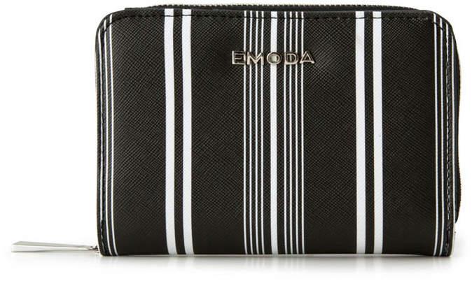 EMODA (エモダ) - 【SAC'S BAR】エモダ EMODA 二つ折り財布 EM-9764 ストライプ柄 【14】ブラック