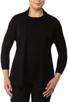 Allison Daley 3/4 Sleeve Open Front Cardigan
