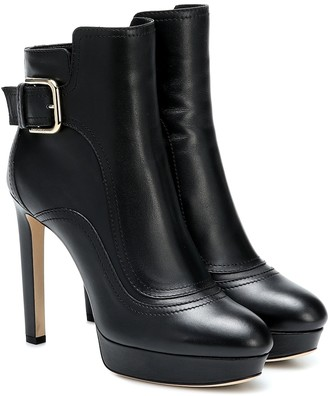Jimmy Choo Britney 115 leather ankle boots