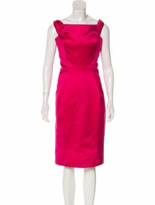 Zac Posen Off-The-Shoulder Midi Dress w/ Tags Fuchsia