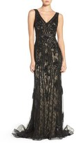 Jovani Sequin Lace Mermaid Gown