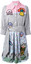 Peter Pilotto embroidered patch checked dress