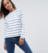 Asos Stripe T-Shirt in Baby Loop Back