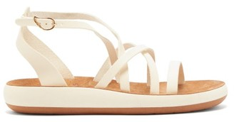 Ancient Greek Sandals Delia Comfort Leather Flatform Sandals - White