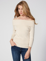 525 America Off The Shoulder Rib Sweater