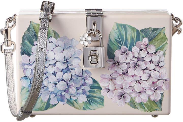 Dolce & Gabbana Dolce Box Printed Leather Crossbody