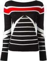 Neil Barrett striped pattern jumper - women - Merino - L