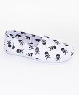 Pink Label White Skull Slip-On Shoe