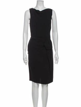 Lanvin Cowl Neck Midi Length Dress Black