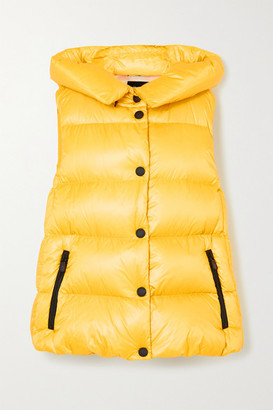 MONCLER GRENOBLE Resy Hooded Quilted Shell Down Vest - Yellow