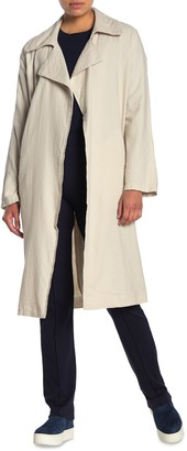 Lole Open Front Linen Blend Trench Coat