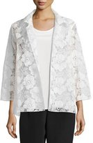 Caroline Rose Morning Glory Organza Easy Shirt, Petite