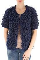 Stella Jean Women's Blue Acrylic Sweatshirt.