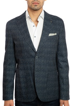 Joe's Jeans Tweed Print Patch Pocket Slim Fit Jacket