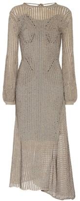 Chloã© Cotton-blend knit midi dress