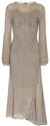 Chloé Cotton-blend knit midi dress