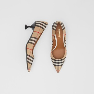 Burberry Vintage Check Cotton Pumps