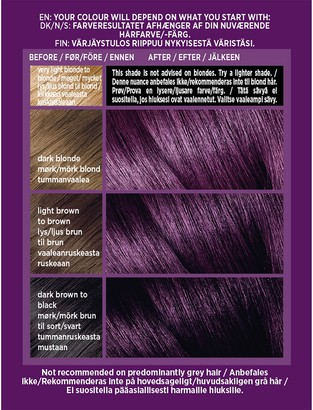 L'Oreal Colorista Magnetic Long-Lasting Permanent Hair Dye Gel - Magnetic Plum 1ml