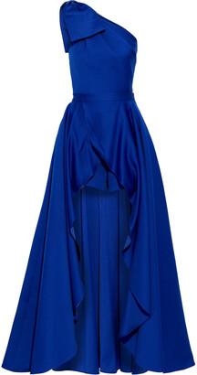 Jay Godfrey Yany One-shoulder Duchesse-satin Playsuit And Skirt Set