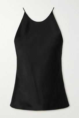 Rosetta Getty Open-back Satin Camisole - Black