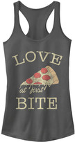 Chin Up Apparel Women's Tank Tops CHARCOAL - Charcoal 'Love at First Bite' Racerback Tank - Women
