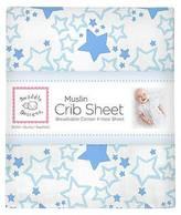 Swaddle Designs Starshine Crib Sheet - Blue