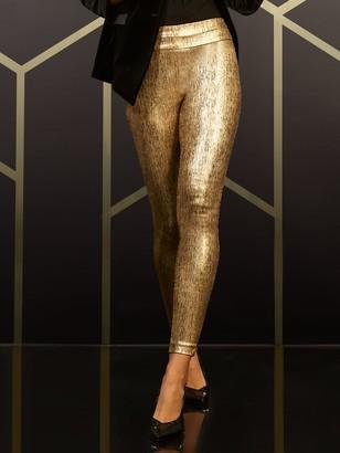New York & Co. Whitney High-Waisted Pull-On Slim-Leg Pant - Gold