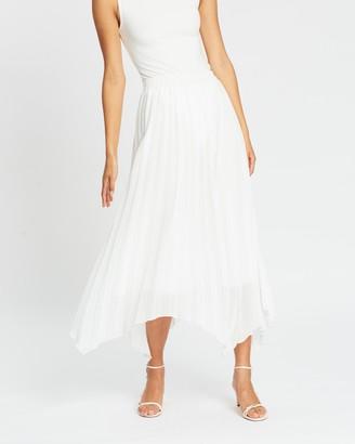 Atmos & Here Chesty Hanky Hem Pleated Skirt