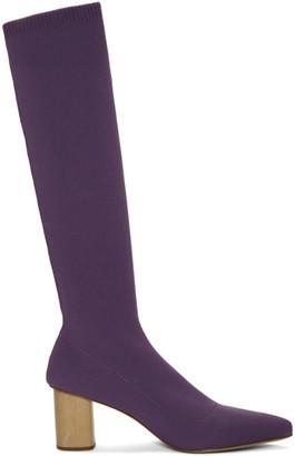 Nanushka Purple Juli Knit Boots