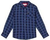 Ben Sherman Blue Herringbone Check Shirt