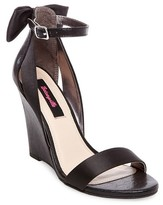 Betseyville by Betsey Johnson Petal Bow Back Wedge Heel Sandals