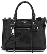 Rebecca Minkoff Micro Regan Satchel in Black.