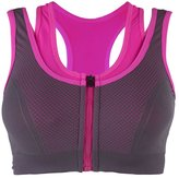 Cliont Women's High Impact Front Zip Sports Bra Comfort Running Jogging Yoga Bras